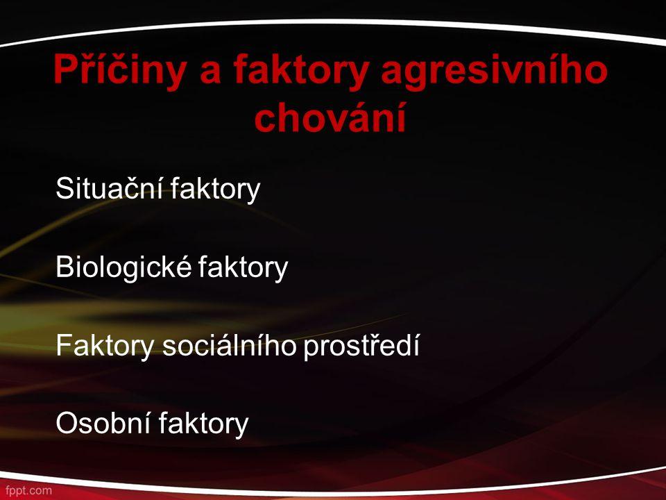 Příčiny a faktory agresivního chování