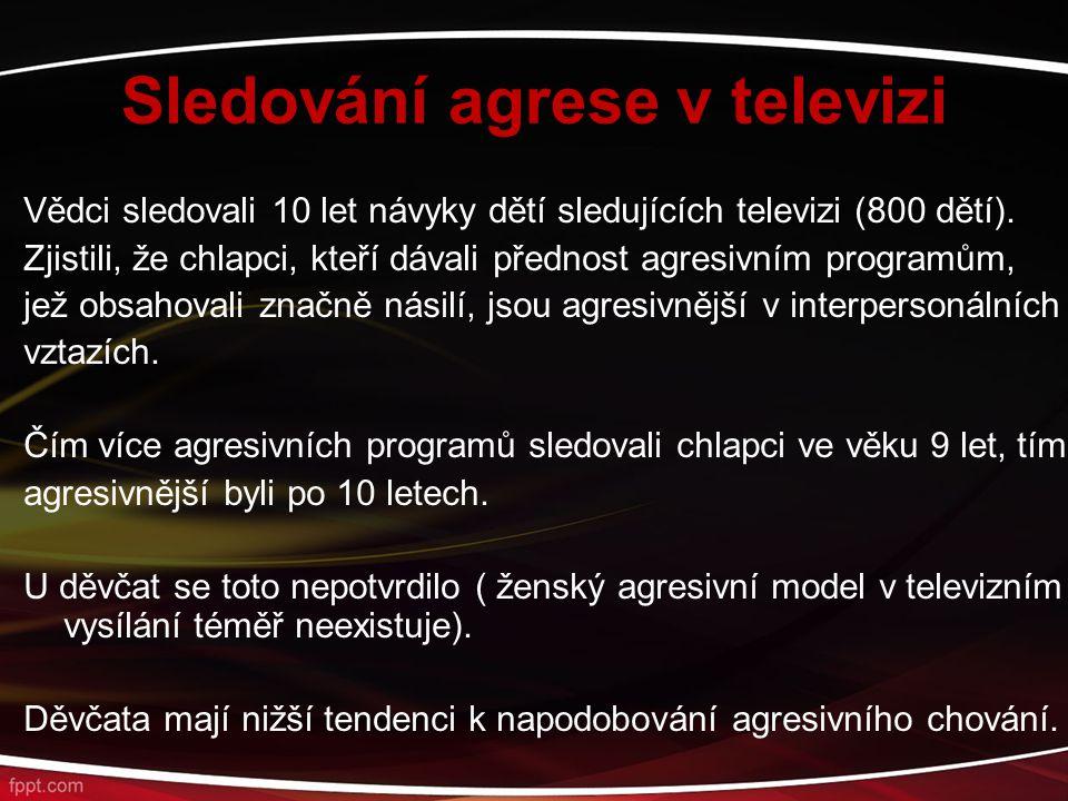 Sledování agrese v televizi