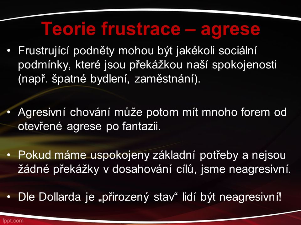 Teorie frustrace – agrese