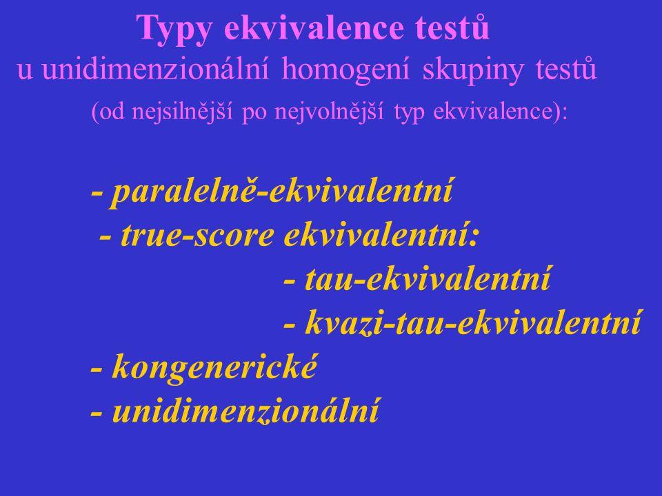 Typy ekvivalence testů