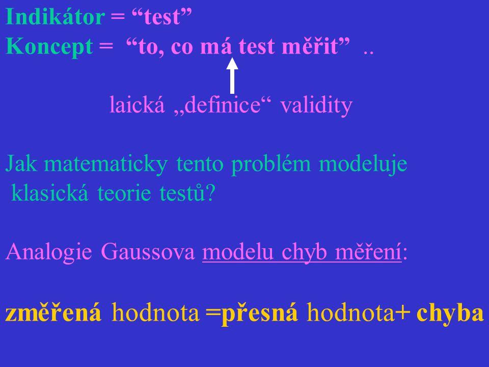 změřená hodnota =přesná hodnota+ chyba