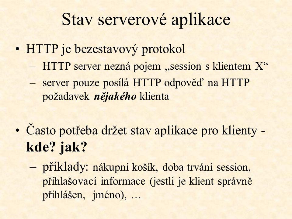 Stav serverové aplikace