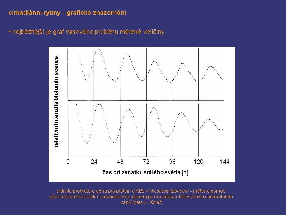 cirkadiánní rytmy - grafické znázornění