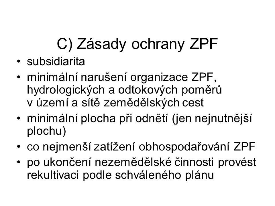 C) Zásady ochrany ZPF subsidiarita