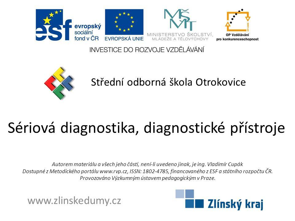 Sériová diagnostika, diagnostické přístroje