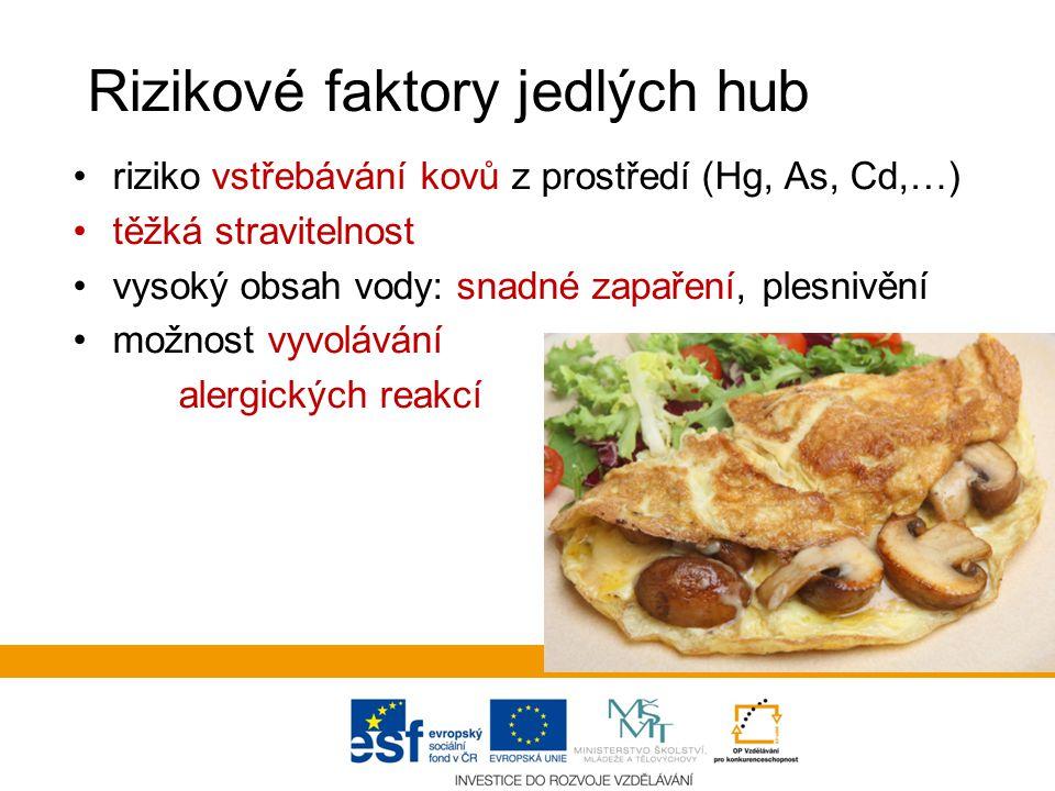 Rizikové faktory jedlých hub