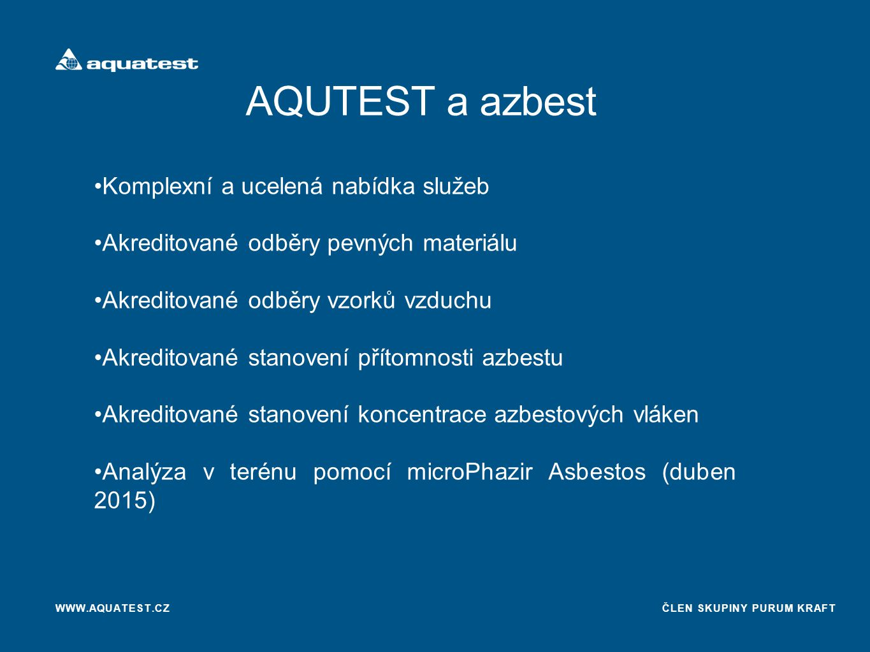AQUTEST a azbest Komplexní a ucelená nabídka služeb