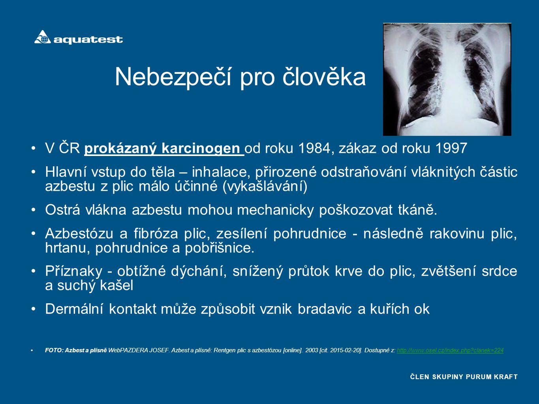 Nebezpečí pro člověka V ČR prokázaný karcinogen od roku 1984, zákaz od roku 1997.