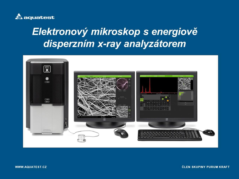 Elektronový mikroskop s energiově disperzním x-ray analyzátorem