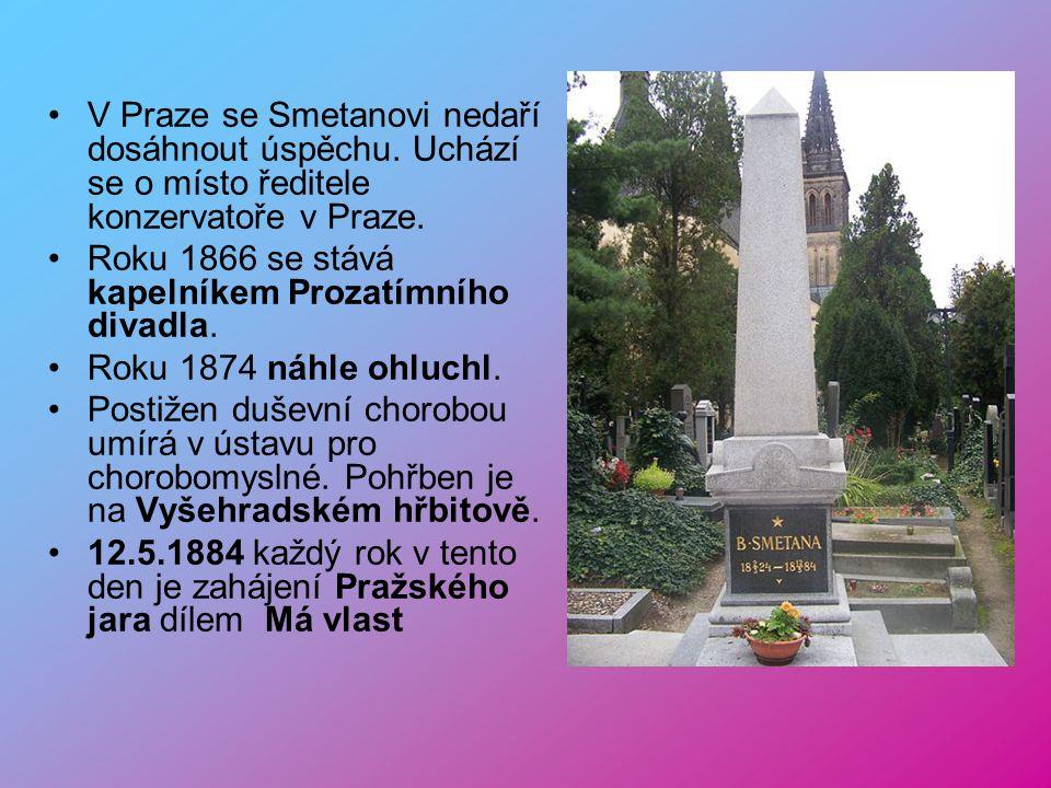V Praze se Smetanovi nedaří dosáhnout úspěchu