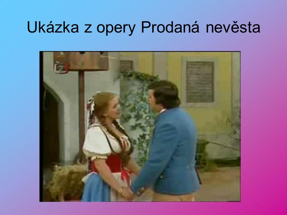 Ukázka z opery Prodaná nevěsta