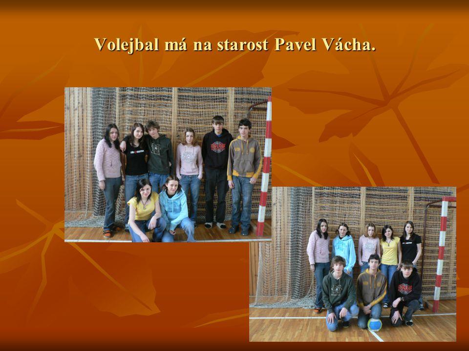 Volejbal má na starost Pavel Vácha.