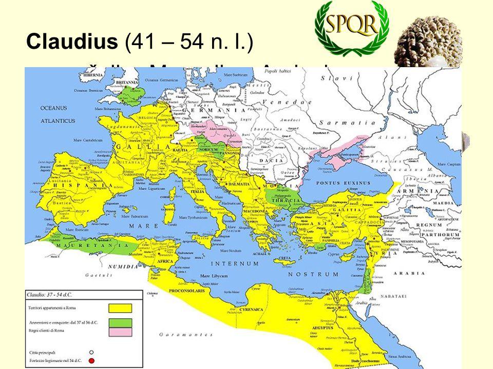 Claudius (41 – 54 n. l.) manželky: Messalina, Agrippina.