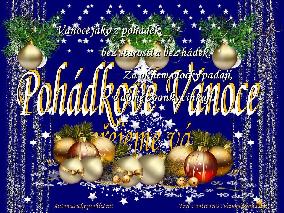Pohádkové Vánoce přejeme vám Vánoce jako z pohádek,