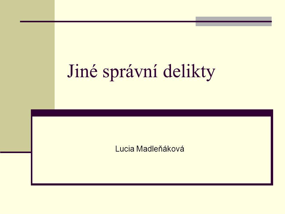 Jiné správní delikty Lucia Madleňáková