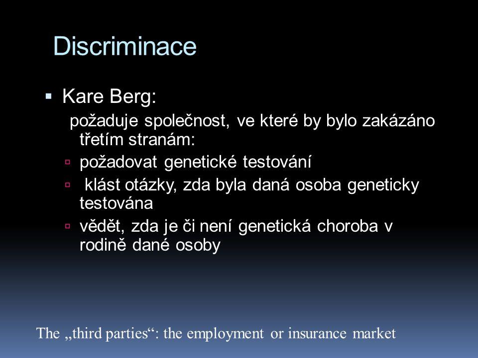 Discriminace Kare Berg: