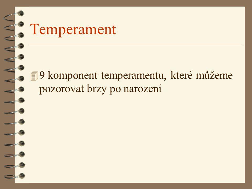 Temperament 9 komponent temperamentu, které můžeme pozorovat brzy po narození