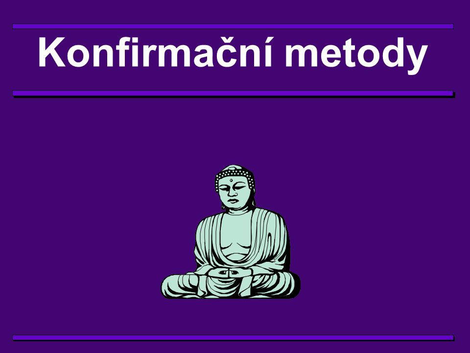 Konfirmační metody