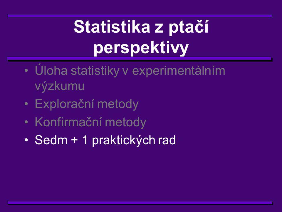 Statistika z ptačí perspektivy