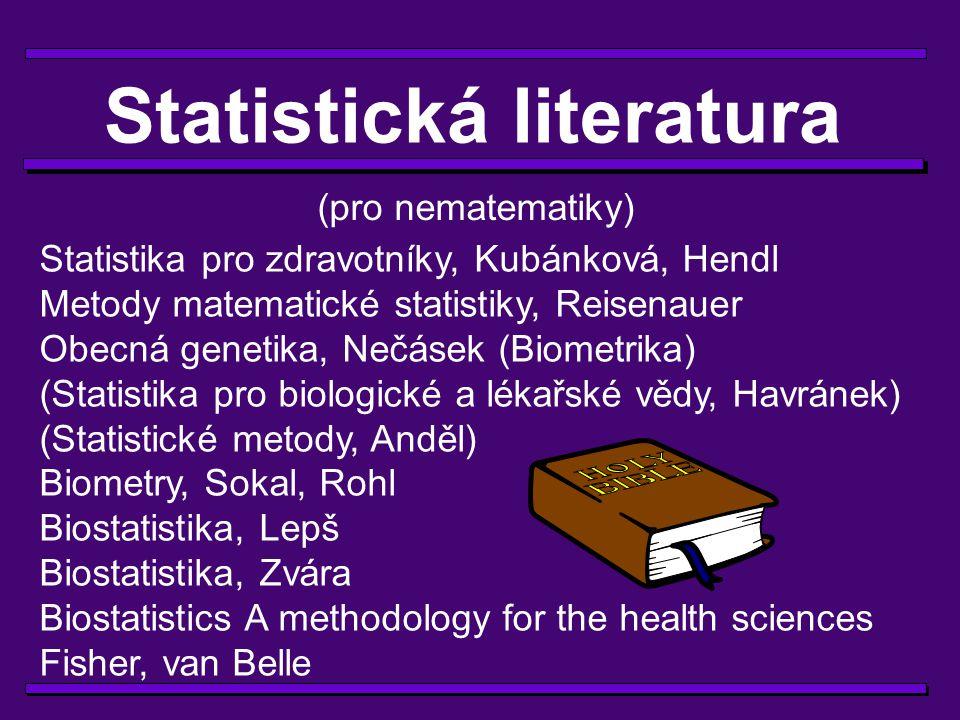 Statistická literatura