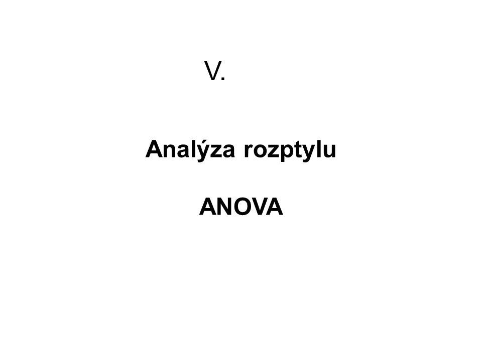 V. Analýza rozptylu ANOVA