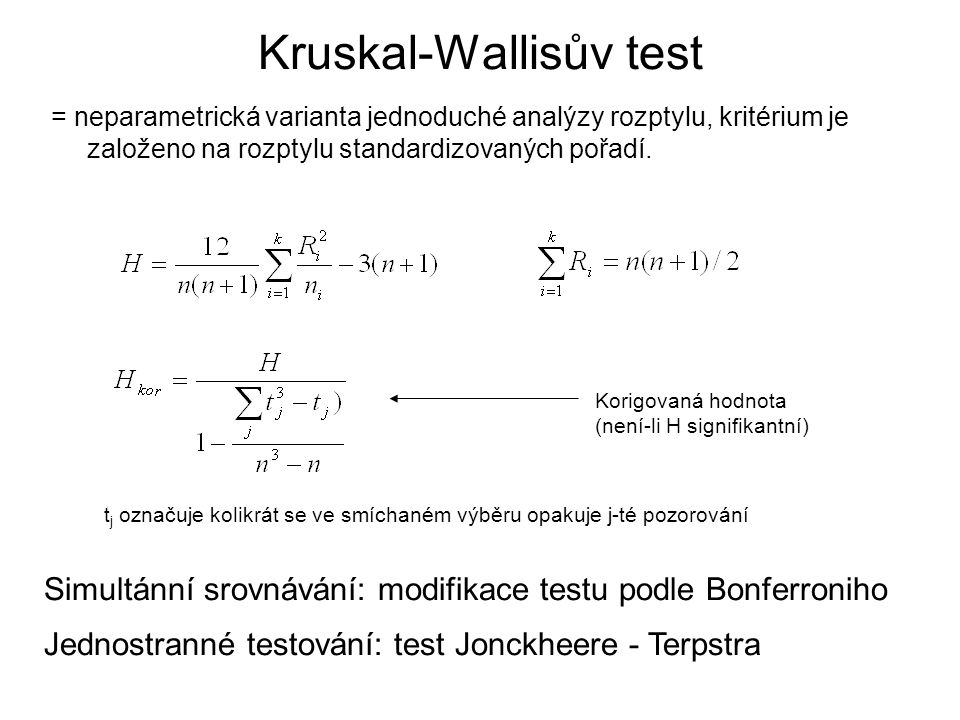 Kruskal-Wallisův test