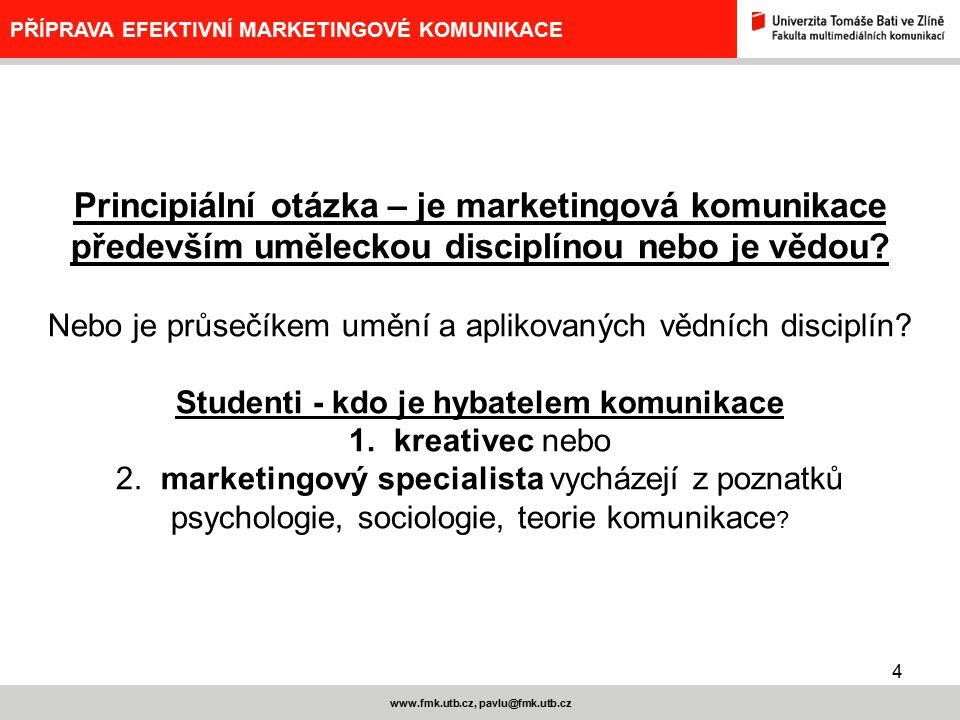 Principiální otázka – je marketingová komunikace