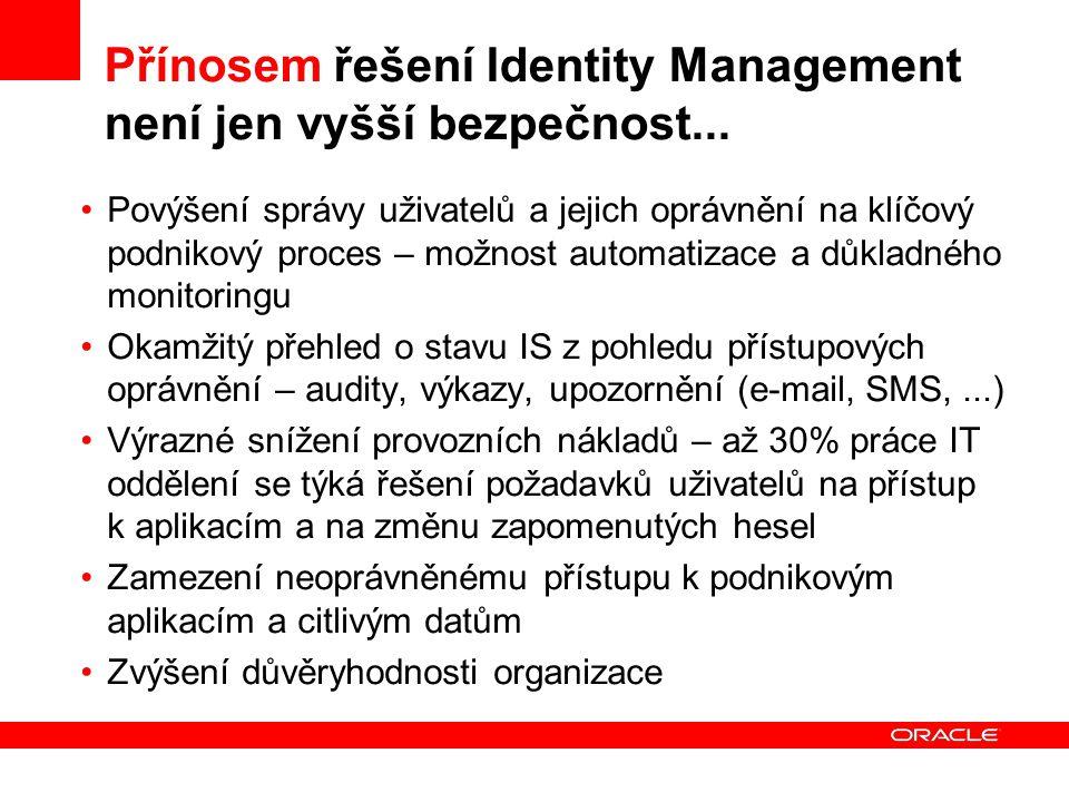 Přínosem řešení Identity Management není jen vyšší bezpečnost...