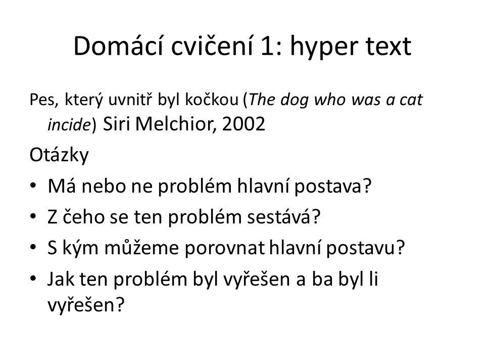 Domácí cvičení 1: hyper text