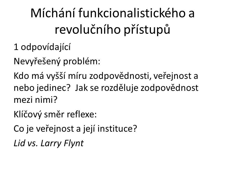 Míchání funkcionalistického a revolučního přístupů