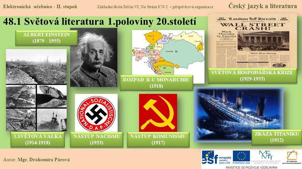48.1 Světová literatura 1.poloviny 20.století