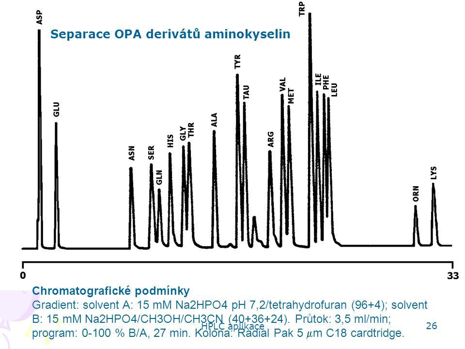 Separace OPA derivátů aminokyselin