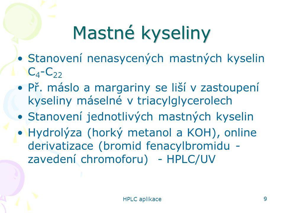 Mastné kyseliny Stanovení nenasycených mastných kyselin C4-C22