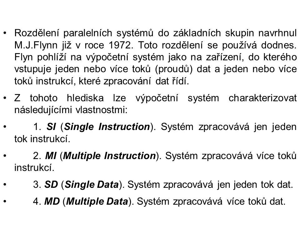 Rozdělení paralelních systémů do základních skupin navrhnul M. J
