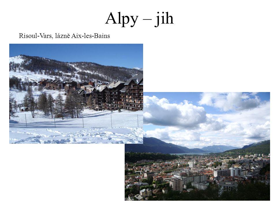 Alpy – jih Risoul-Vars, lázně Aix-les-Bains