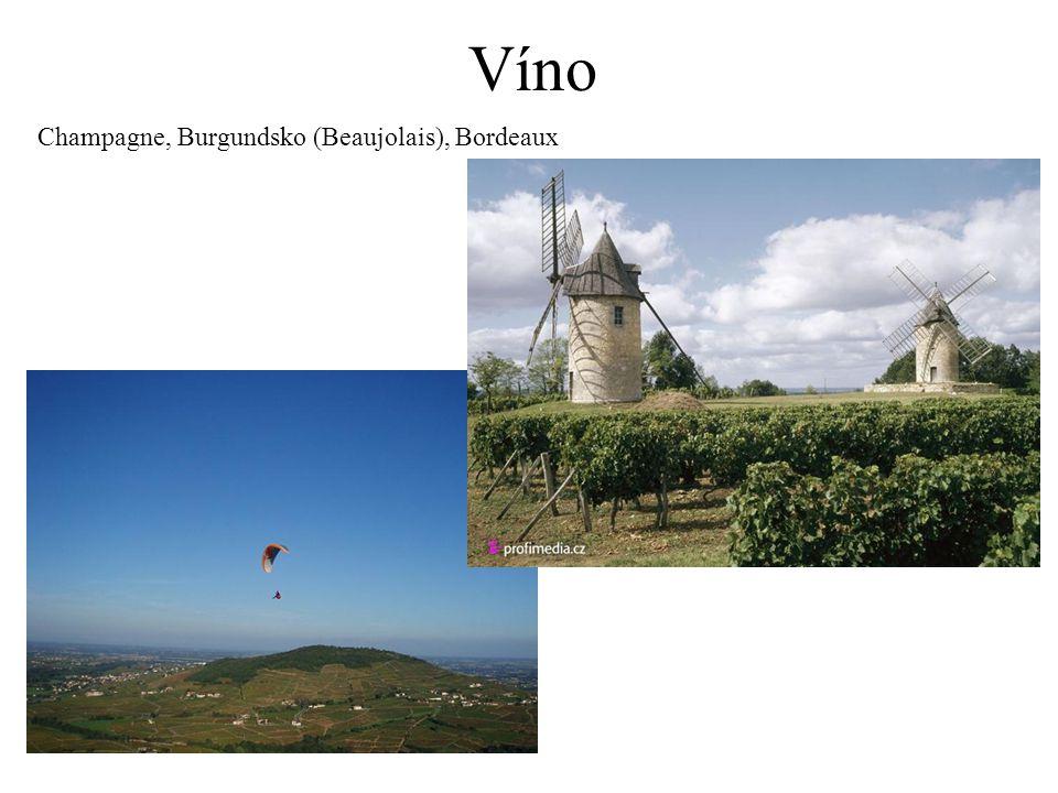 Víno Champagne, Burgundsko (Beaujolais), Bordeaux