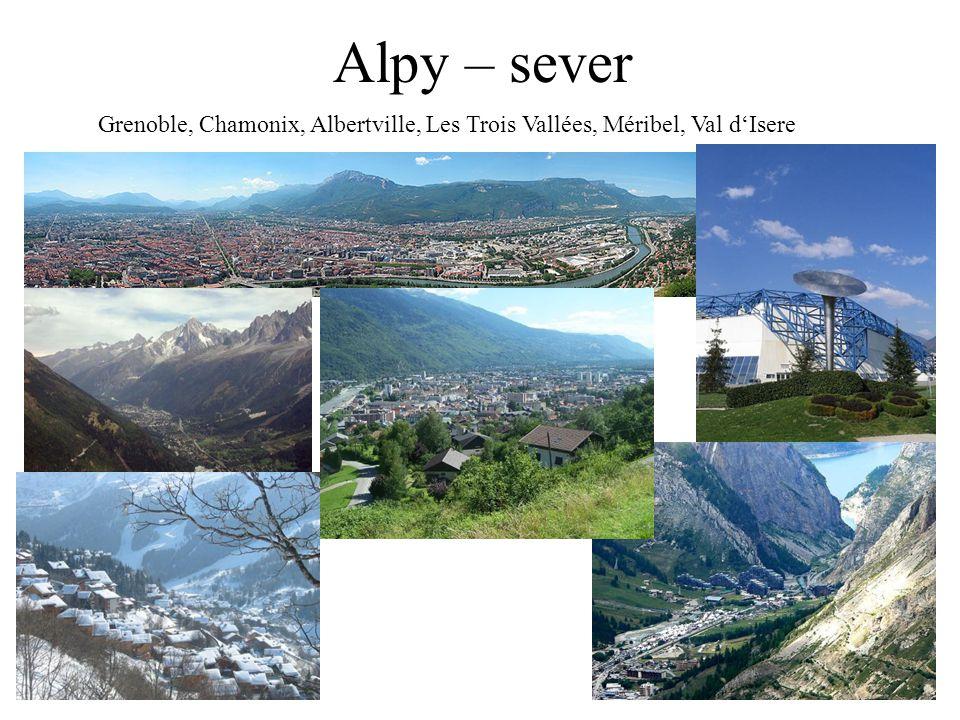 Alpy – sever Grenoble, Chamonix, Albertville, Les Trois Vallées, Méribel, Val d'Isere