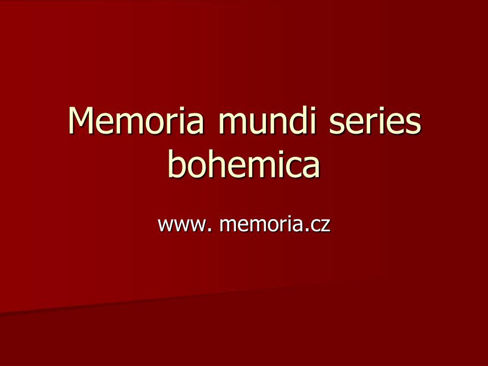 Memoria mundi series bohemica