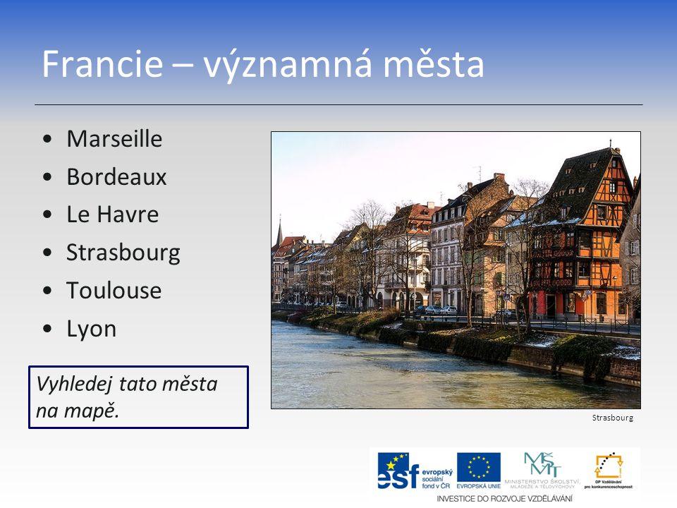 Francie – významná města