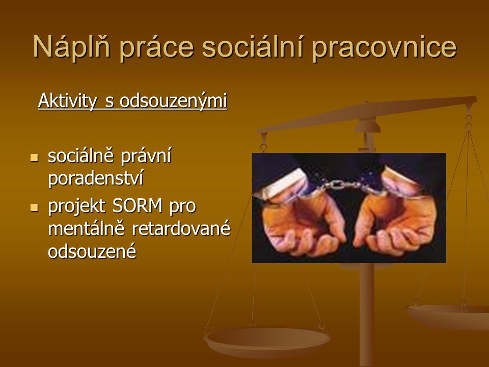 Náplň práce sociální pracovnice