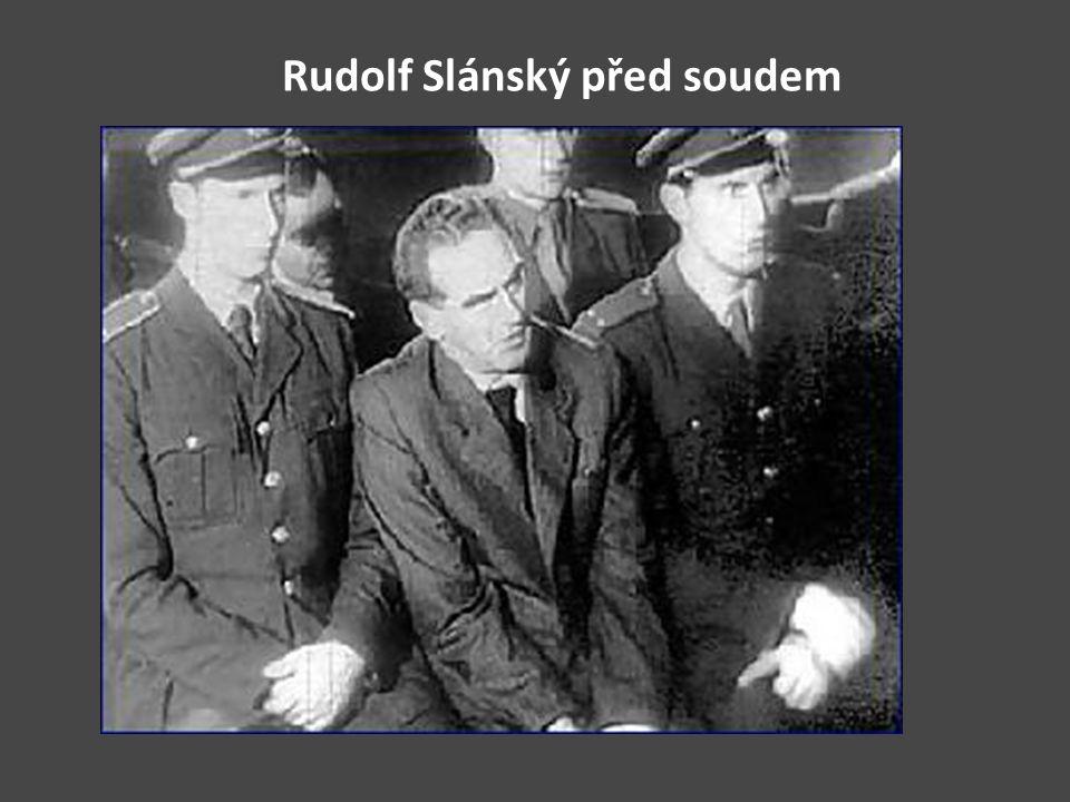 Rudolf Slánský před soudem
