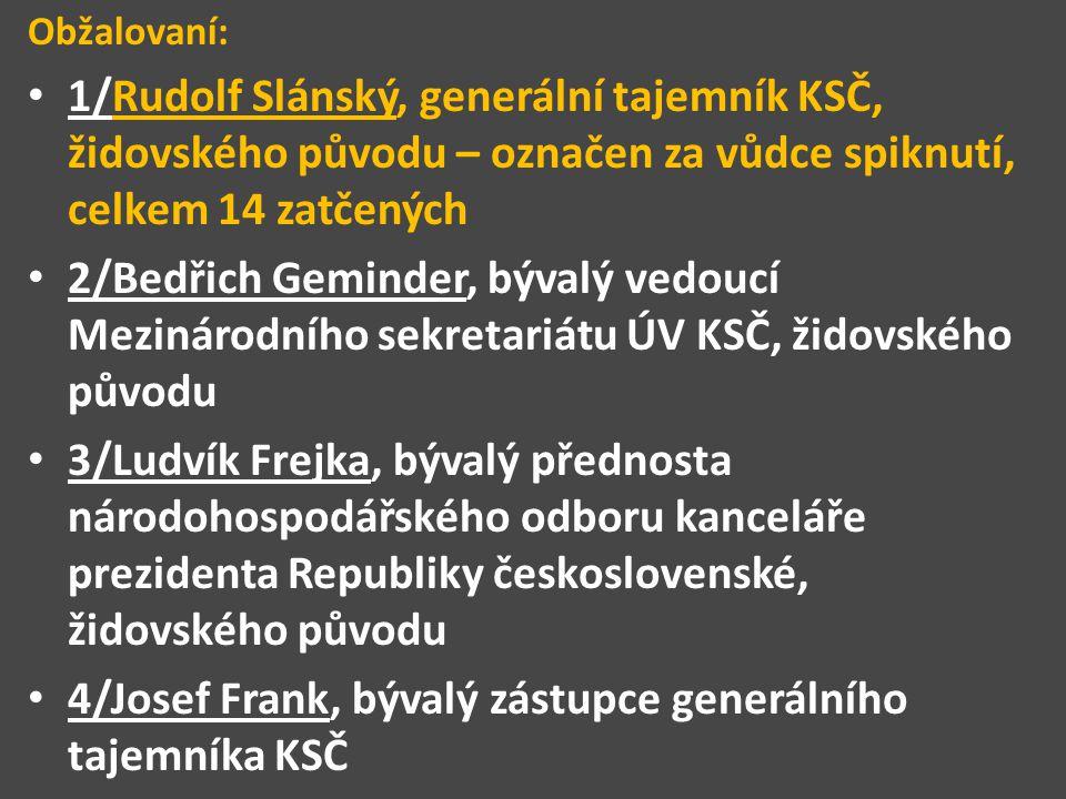4/Josef Frank, bývalý zástupce generálního tajemníka KSČ