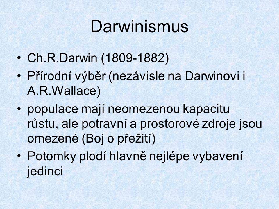 Darwinismus Ch.R.Darwin (1809-1882)