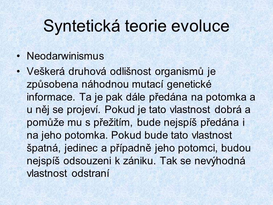 Syntetická teorie evoluce