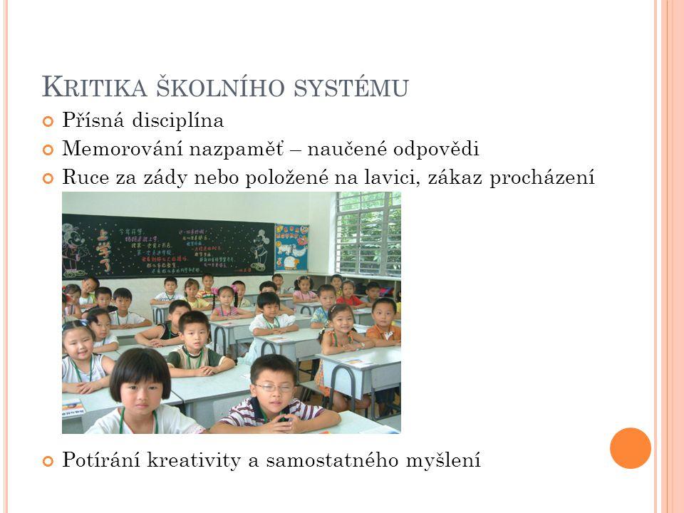 Kritika školního systému