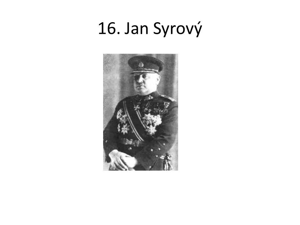 16. Jan Syrový
