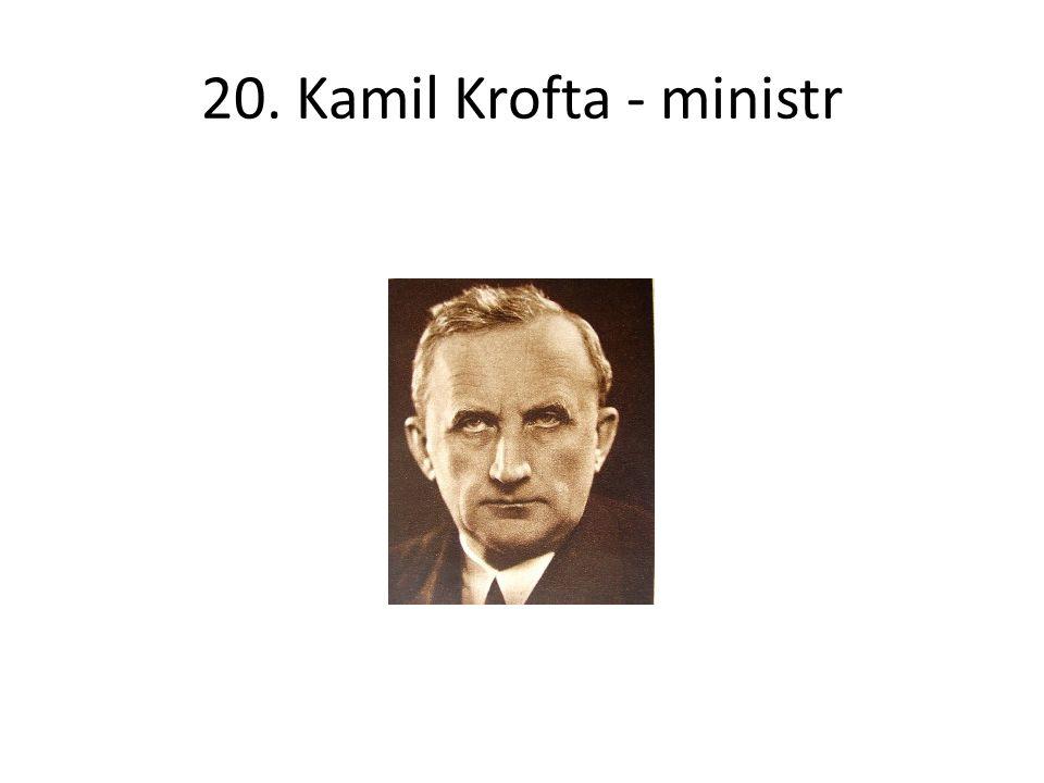 20. Kamil Krofta - ministr