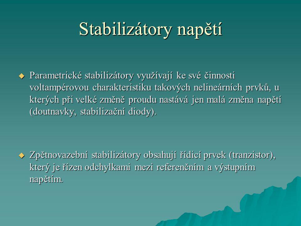 Stabilizátory napětí