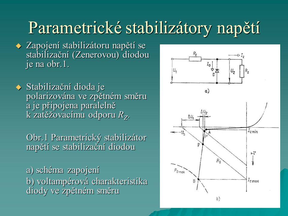 Parametrické stabilizátory napětí