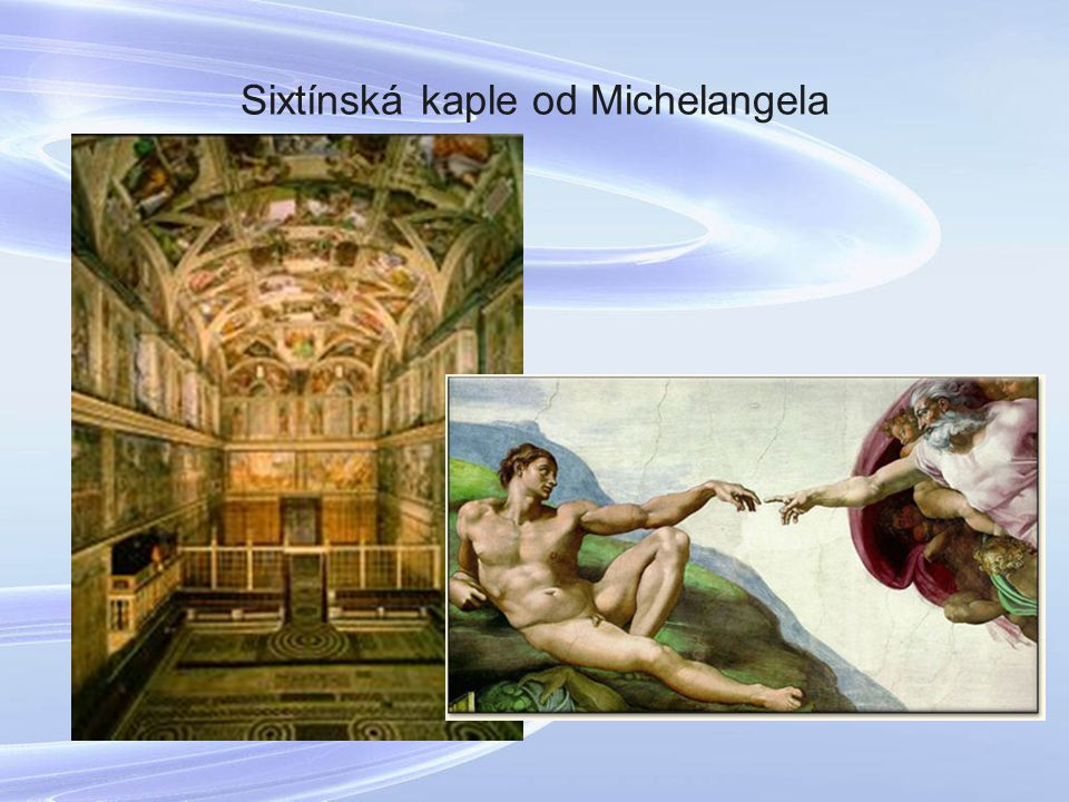Sixtínská kaple od Michelangela